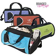 We are on a health and wellness kick at Branded With Style. Check out these super cute gym bags and brand your favorite color with your logo.