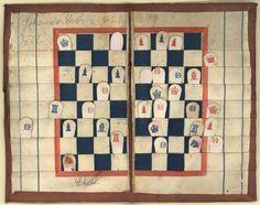 Johannes Lefevre's Civil War pocket chess-board, 1862 :: Historic Huguenot Street