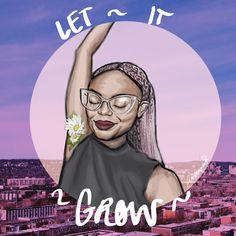 """""""NATURAL"""" by Arianna Sivira #art #digitalpainting #design #hair #armpits #letitgrow #natural #illustration #drawing #sketch #pastel"""