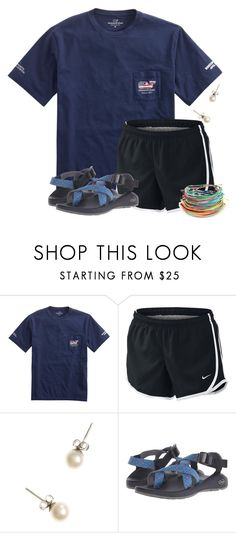 """""""My pops is doing the Boston Marathon today!"""" by flroasburn ❤ liked on Polyvore featuring NIKE, J.Crew and Chaco"""