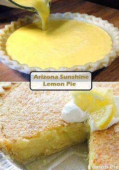 Arizona Sunshine Lemon Pie Recipe - Page 2 of 2 - QuickRecipes pies pies recipes dekorieren rezepte Lemon Desserts, Lemon Recipes, Just Desserts, Baking Recipes, Pie Dessert, Dessert Recipes, Flaky Pastry, Pie Crust Recipes, Pie Crusts