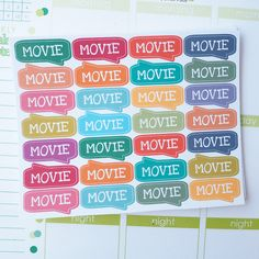 28 Movie Sticker Planner  // Perfect for Erin Condren Life Planner by FasyShop on Etsy