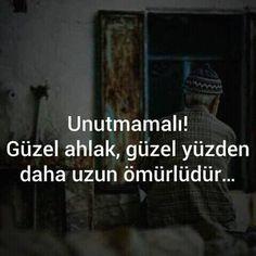 Unutmamali, guzel ahlak.. Turkish Language, Karma, Poems, Life Quotes, Writing, Instagram Posts, Aquarium, Iphone, Proverbs Quotes