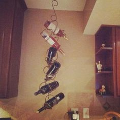LetsGetTwisted Hanging Wine Rack by LetsGetTwisted on Etsy, $39.99