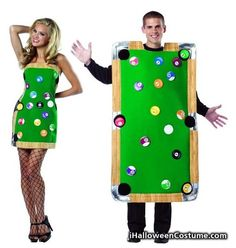 Pool Table Dress & Pool Table Male Adult Couples Costume Set -One Size - Halloween Costumes 2013