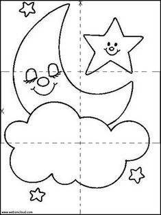 Space crafts for kids puzzles to cut out 8 Jellyfish Light, Pink Jellyfish, Christmas Ornament Coloring Page, Quilting Designs, Embroidery Designs, Tracing Art, Christmas Unicorn, Black Artwork, Baby Scrapbook