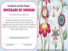 Certificados de Boas-Vindas da Sociedade de Socorro