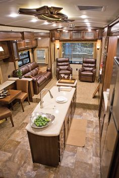 RV Decor | stunning interior design was among the new HR Presidential's most …