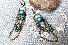 Boucles design bleu des mers du sud. Un look par MesOdalisques