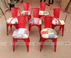 Colorful Multi color Fabric Vintage Industrial Restaurant Chair by Jangid Art & Crafts / Cafe and Restaurant Furniture Manufacturer, Supplier and Exporter India #chair #ironchair #metalchair #restaurantchair #cafechair #hotelchair #chairmanufacturer #chairexporter #chairsupplier #ironfurniture #hotelfurniture #restaurantfurniture #cafefurniture #resortfurniture #wholesalefurniture #metalfurniture #retrofurniture #vintagefurniture #rawfurniture #jodhpurfurniture #indianfurniture… Raw Furniture, Indian Furniture, Retro Furniture, Restaurant Furniture, Restaurant Chairs, Cafe Chairs, Art Crafts, Arts And Crafts, Industrial Restaurant