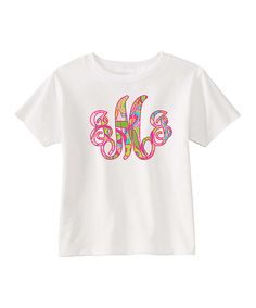 Look what I found on #zulily! Preppy Mama White & Pink Paisley Monogram Tee - Infant, Toddler & Girls by Preppy Mama #zulilyfinds