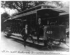 Streetcar at National Zoological Park, Washington DC early-1900s