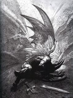 """""""The mind is its own place, and in itself can make a heaven of hell, a hell of heaven."""" ― John Milton, Paradise Lost -- Art by Simon Bisley Dark Fantasy Art, Simon Bisley, Satanic Art, Dark Artwork, Arte Obscura, Demon Art, Occult Art, Biblical Art, Angels And Demons"""
