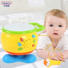 ==> [Free Shipping] Buy Best Kids Musical Drum Set Rotation With Microphone Play Music Sing Song Connect with Phone Infant Playing Type Light Animal Sounds Online with LOWEST Price   32794830829