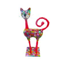 design Cat for cat lover made polymer clay  whimsical by MIRAKRIS, $150.00