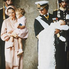 Watching over three-month-old Carl Philip during his baptism was his big sister Crown Princess Victoria. <br><p>Photo: © Getty Images</p>