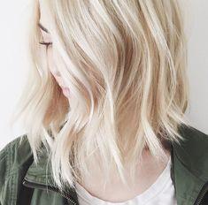 white blonde bob