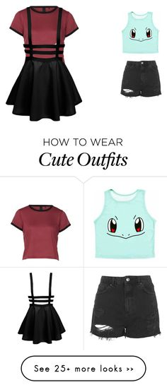 """""""2 outfits"""" by your-so-creepy on Polyvore featuring Topshop"""