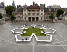 Soziologie des Sitzens - Installation in London