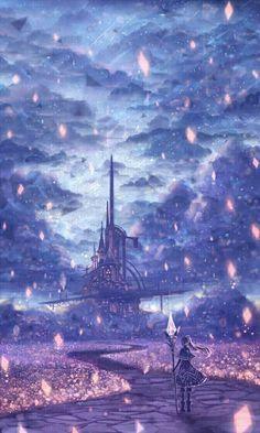 New Fantasy Art Magic Wallpaper 15 Ideas Fantasy Places, Fantasy World, Manga Art, Anime Art, Manga Anime, Anime Kunst, Fantasy Landscape, Landscape Art, Anime Scenery