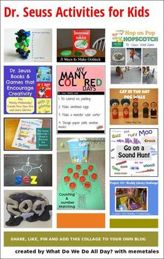 Dr. Seuss Activities for Kids that so creative!