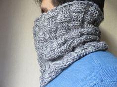 Le snood ALDO: tuto tricot snood homme, point de manne.