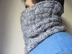 Le snood ALDO: tuto tricot snood homme, point de manne.