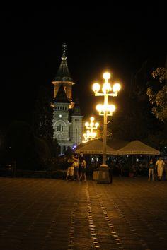 Timisoara Night Timisoara Romania, Street Lights, Street Lamp, Bulgaria, Lamps, Night, Lightbulbs, Floor Standing Lamps, Light Fixtures