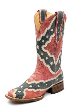 Corral Rebel Flag Cowgirl Boots