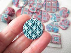 Fimo Cristalline, tuto et bijoux en polymère: Rose et bleu, suite