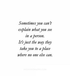 no one else...