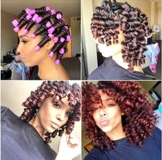 Beautifully Laid Out Perm Rod Set On Natural Hair My Rods Never Look This Neat And Perfectly Planned When I Do Own