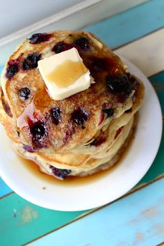 Made these Sour Cream Blueberry Pancakes for breakfast today!  The only thing I would change is the amount of flour. I added between 1/4 cup and 1/2 cup more flour.
