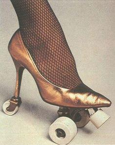Stiletto rollerskates
