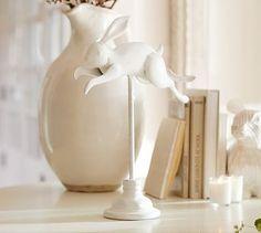 Running Sculptural Bunny #potterybarn