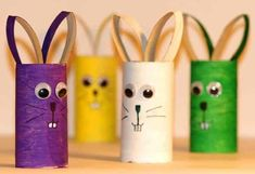 Easter Arts And Crafts, Diy Arts And Crafts, Christmas Crafts For Kids, Diy Crafts For Kids, Art For Kids, Toilet Paper Roll Diy, Toilet Roll Craft, Craft Activities For Kids, Preschool Crafts