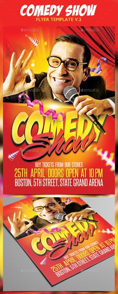 Comedy Show Flyer Template Httpxtremeflyerscomedy Show