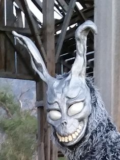 Frank The Bunny Donnie Darko Professional Costume Mask Replica  The masks are made to order since they take me some time from start to finish.