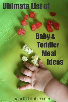 Ultimate list of baby meal ideas. Note: make your own to make some of these ideas healthier too!