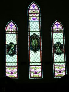 St Kilian's Church windows, Bendigo, Victoria, Australia