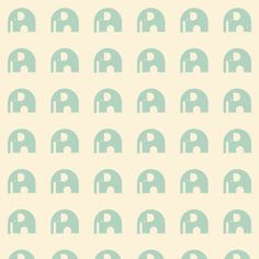 #elefant #mint #wallpaper #kids #behang | wform