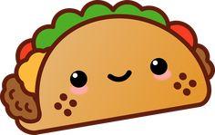 kawaii food taco freetoedit Sticker by Sierra Cute Food Drawings, Cute Animal Drawings Kawaii, Cute Little Drawings, Cute Cartoon Drawings, Kawaii Doodles, Cute Doodles, Kawaii Art, Kawaii Room, Kawaii Style