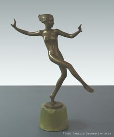 A stylish and rare Art Deco Austrian bronze figure by Josef