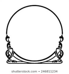 round decorative frame in the art Nouveau style Art Nouveau Frame, Motifs Art Nouveau, Art Nouveau Pattern, Art Nouveau Design, Pattern Art, Design Art, Anillo Art Nouveau, Art Nouveau Ring, Wedding Symbols