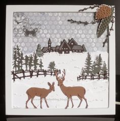 Christmas Cards 2017, Beautiful Christmas Cards, Holiday Cards, Mom Cards, Cards For Friends, Marianne Design Cards, Winter Cards, Creative Cards, Handmade Christmas