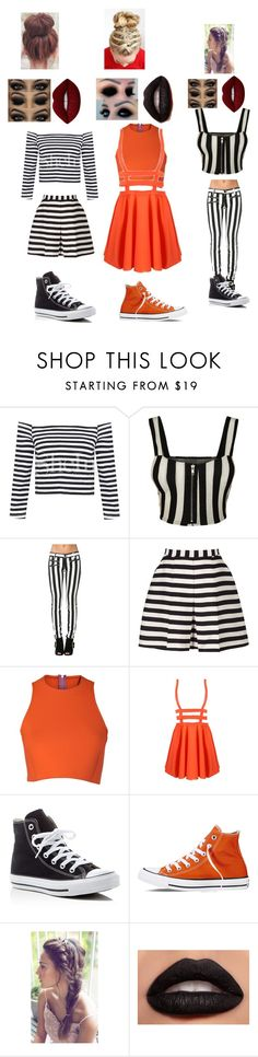 """""""Breakout"""" by megalee ❤ liked on Polyvore featuring WearAll, Reiss, Sydney-Davies, Converse and Lime Crime"""