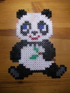 Panda hama beads by Nath Hour