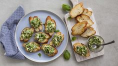 Impress your guests with easy and elegant zucchini and feta crostini