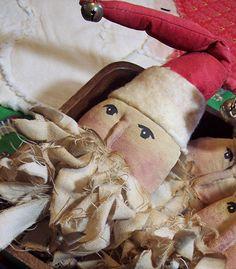 Santa Primitive Christmas Ornaments / Ornies by ThePrairieCottage