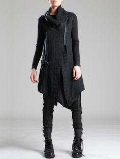 Rustic Linen Vest by LURDES BERGADA